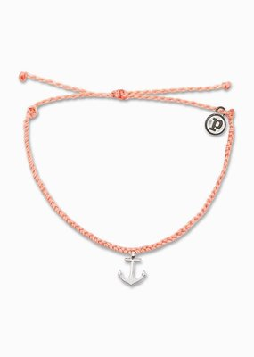 Braided Anchor Charm - Salmon
