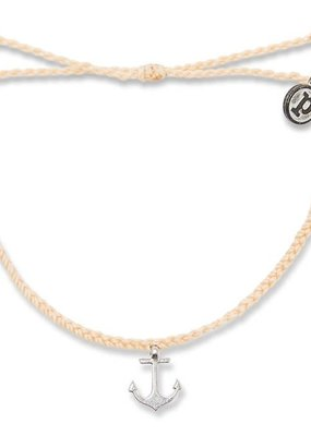 Braided Anchor Charm - Cream