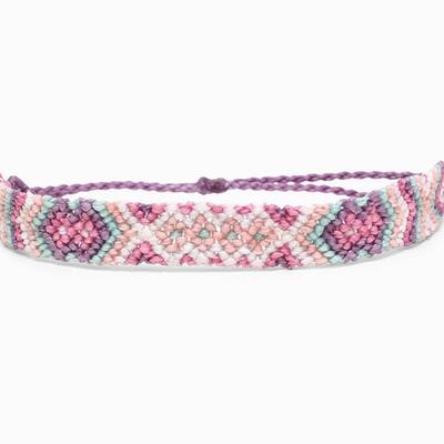 Purple Macrame Friendship Bracelet