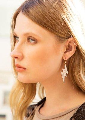 Silver Lightning Bold Earrings