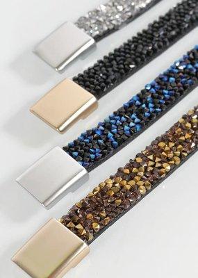 urbanista Glitter Stone Magnetic Bracelet - Black