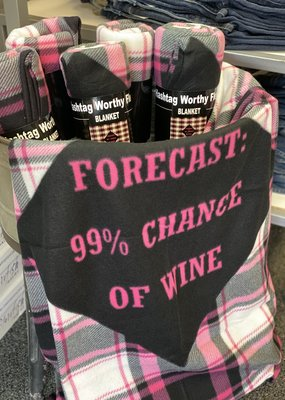 Forcast 99% Chance of Wine Blanket