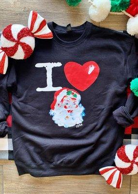 PPTX I Love Santa Crew Sweatshirt