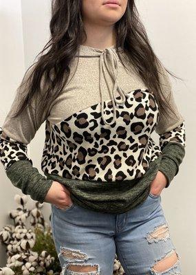 Reborn J Leopard Contrast Hoodie