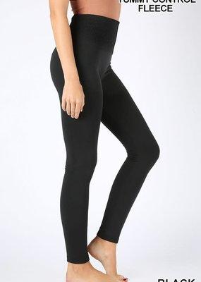 Black Fleece Lined Leggings With Control Top