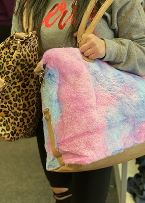 LTB Cotton Candy Sherpa Weekender Tote