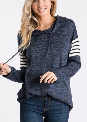Heimish USA Navy Stripe Sweater Hoodie (S-3XL)