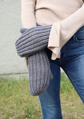 LTB Grey Knit Mittens