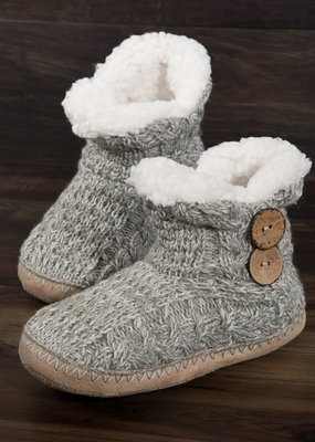 LTB Gray Button Slippers
