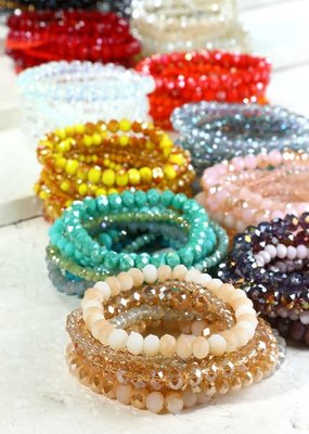 urbanista Set of Shimmering Glass Beaded Bracelet