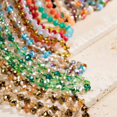 urbanista Shimmering Glass Bead Layering Necklace