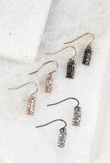 urbanista Long Pave Bar Necklace w/ Matching Earrings
