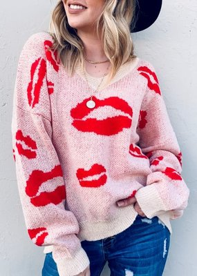 And the Why Red Kisses Sweater