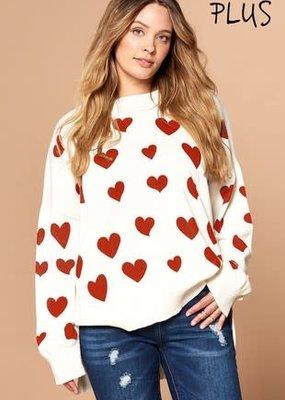 Oddi Hearts Tunic Sweater (S-3XL)