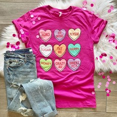 LTB Pink Conversation Heart Tee (2XL/3XL only)