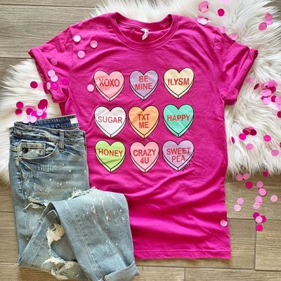 LTB Pink Conversation Heart Tee (2XL/3XL only)