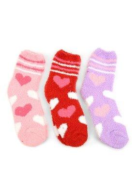 LTB Women's Heart Cozy Slipper Socks - 3 Pack