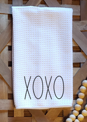 Blue Door Designs Rae Dunn Insprired XOXO Kitchen Towel