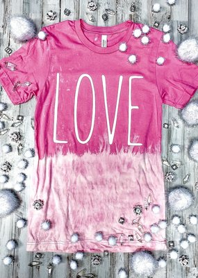 Pink Bleached Love Tee (S-3XL)