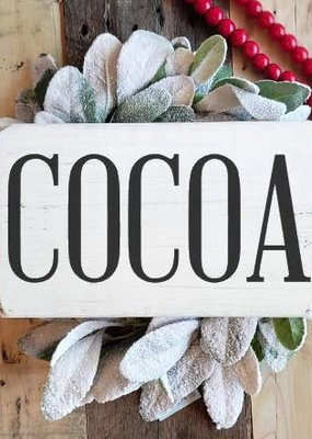 Blue Door Designs Cocoa Mini Farmhouse Sign