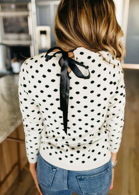 AMPERSAND AVE Dot and Bow Sweater - Ampersand Ave