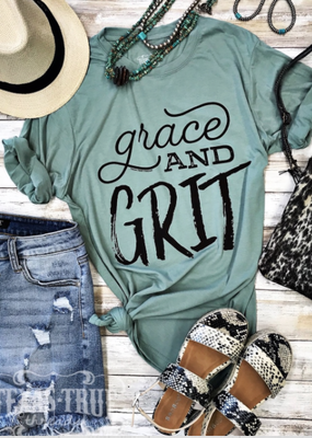 TTT Grace and Grit Stonewash Green Tee (S-2XL)