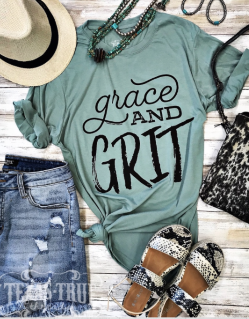 TTT Grace and Grit Stonewash Green Tee (S-2XL)