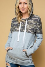Camouflage Colorblock Hoodie (S-3XL)