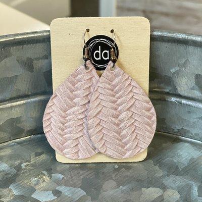 Deer Addie Deer Addie Blush Leather Earrings