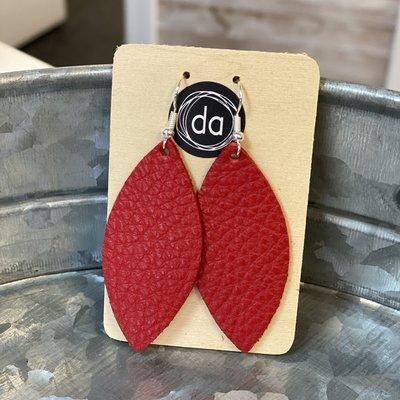 Deer Addie Deer Addie True Red Skinny Leather Earrings