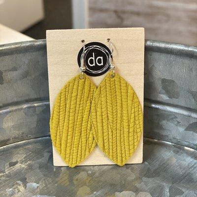 Deer Addie Deer Addie Mustard Leather Earrings