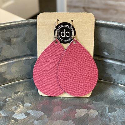 Deer Addie Deer Addie Pink Leather Earrings