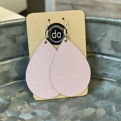 Deer Addie Deer Addie Baby Pink Leather Earrings