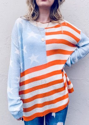 Flag Loose Knit Spring Top