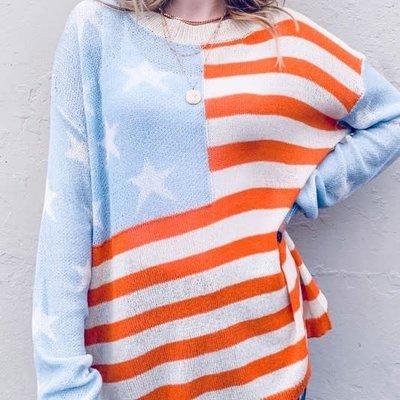 USA Flag Loose Sweater