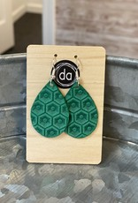 Deer Addie Deer Addie Green Mini Leather Earrings