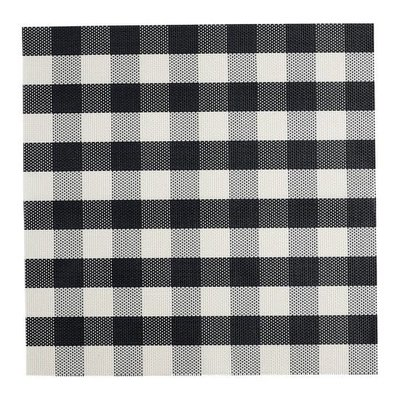 Black Checkers Placemat