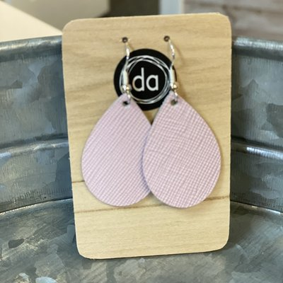 Deer Addie Deer Addie Baby Pink Mini Leather Earrings