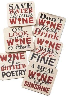 Design Imports Wine Coaster Set of 6