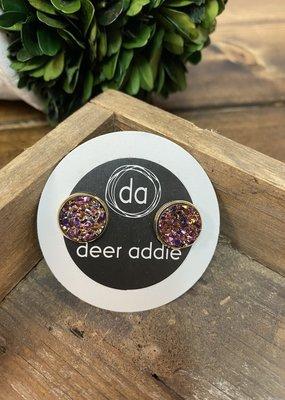 Deer Addie Deer Addie Rose Gold Druzy 16