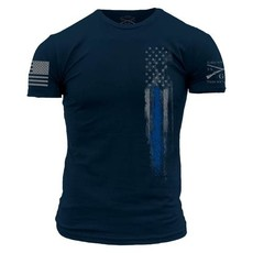 Grunt Style Grunt Style Blue Line Flag Tee (2XL and 3XL)