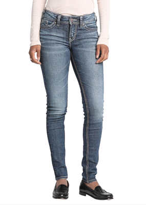 SILVER JEANS Elyse Mid Skinny Silver Jeans