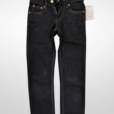 Toby Kids Boys Slim Straight Black Jeans