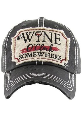 Your Fashion Wholesale Wine O'Clock Vintage Hat