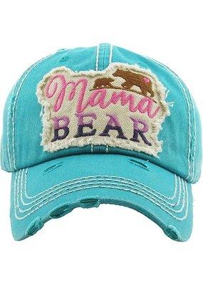 Your Fashion Wholesale Turquoise Mama Bear Vintage Hat