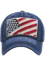 Your Fashion Wholesale Distressed Flag Hat