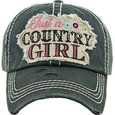 Your Fashion Wholesale Country Girl Vintage Hat (Charcoal OR Yellow)