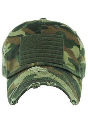 Your Fashion Wholesale Camouflage Flage Vintage Hat