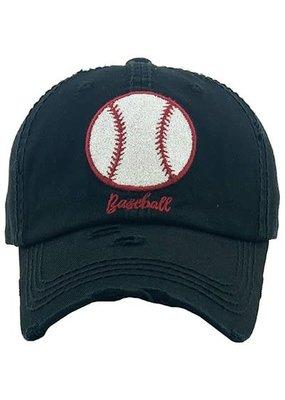 Your Fashion Wholesale Glitter Baseball Black Hat