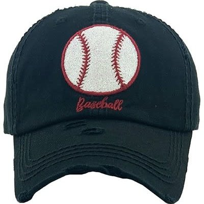 Your Fashion Wholesale Glitter Baseball Black Hat